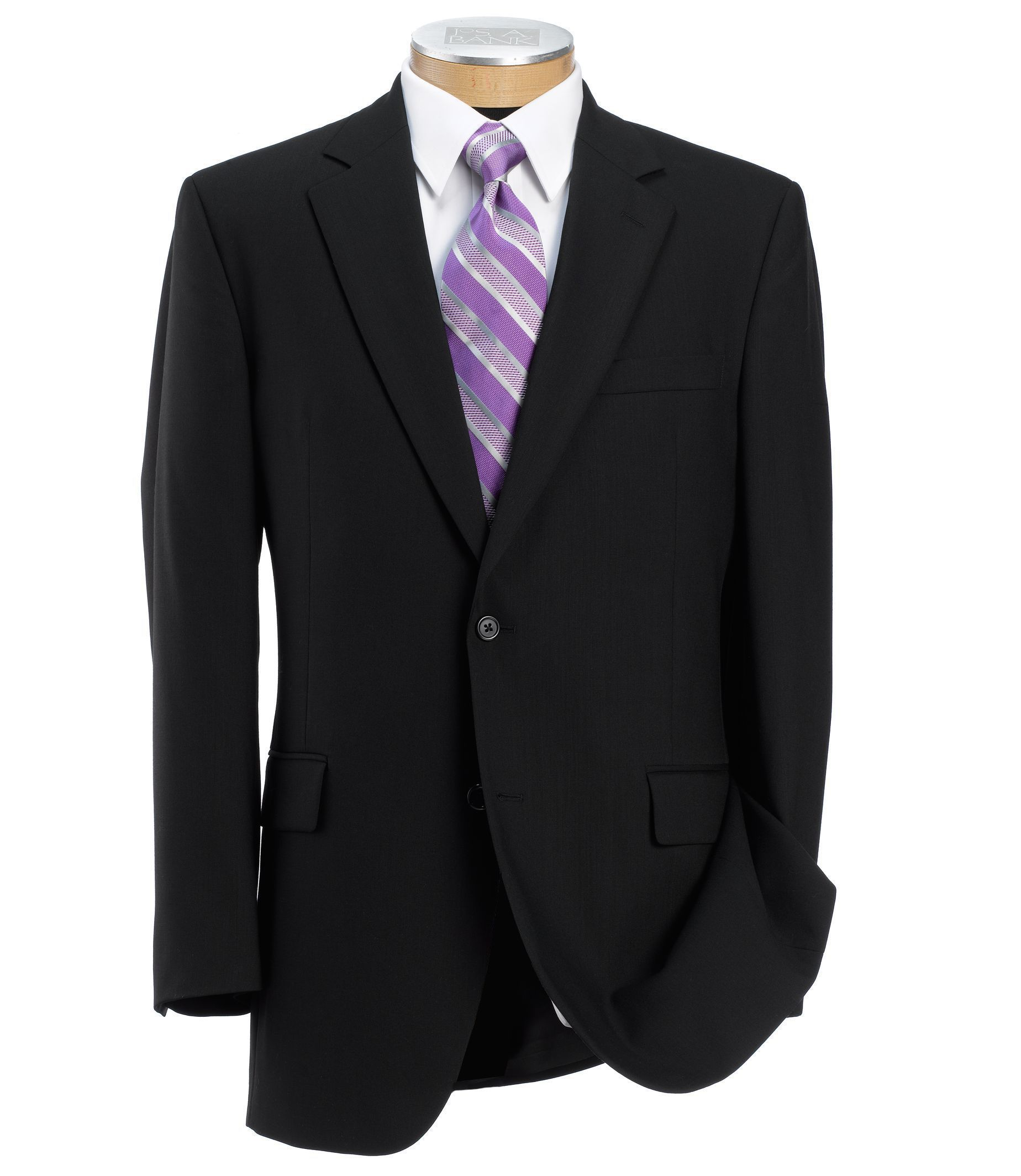 Signature Collection Regal Fit 2-Button Wool Suit W/ Pleated ...