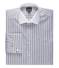 Signature White Spread Collar, Self French Cuff Dress Shirt