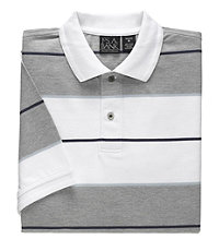 Traveler Striped Short Sleeve Tailored Fit Pique Polo