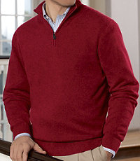 Traveler Cashmere Half-Zip Sweater Big/Tall