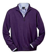 Signature Pima Cotton Half-Zip Sweater Big/Tall