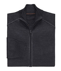 Joseph Merino Wool Blend Full Zip Sweater