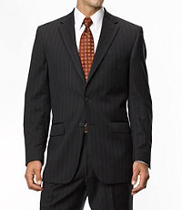 Traveler Tailored Fit 2-Button Suits Plain Front- Sizes 44 X-Long-52