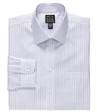 Traveler Spread Collar Stripe Dress Shirt Big/Tall