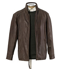 VIP Vintage Leather Open Bottom Jacket