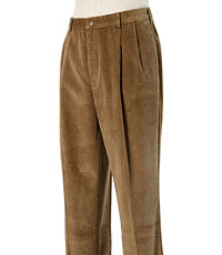 Colorfast Casual Corduroy Pleated Front Pants Big and Tall