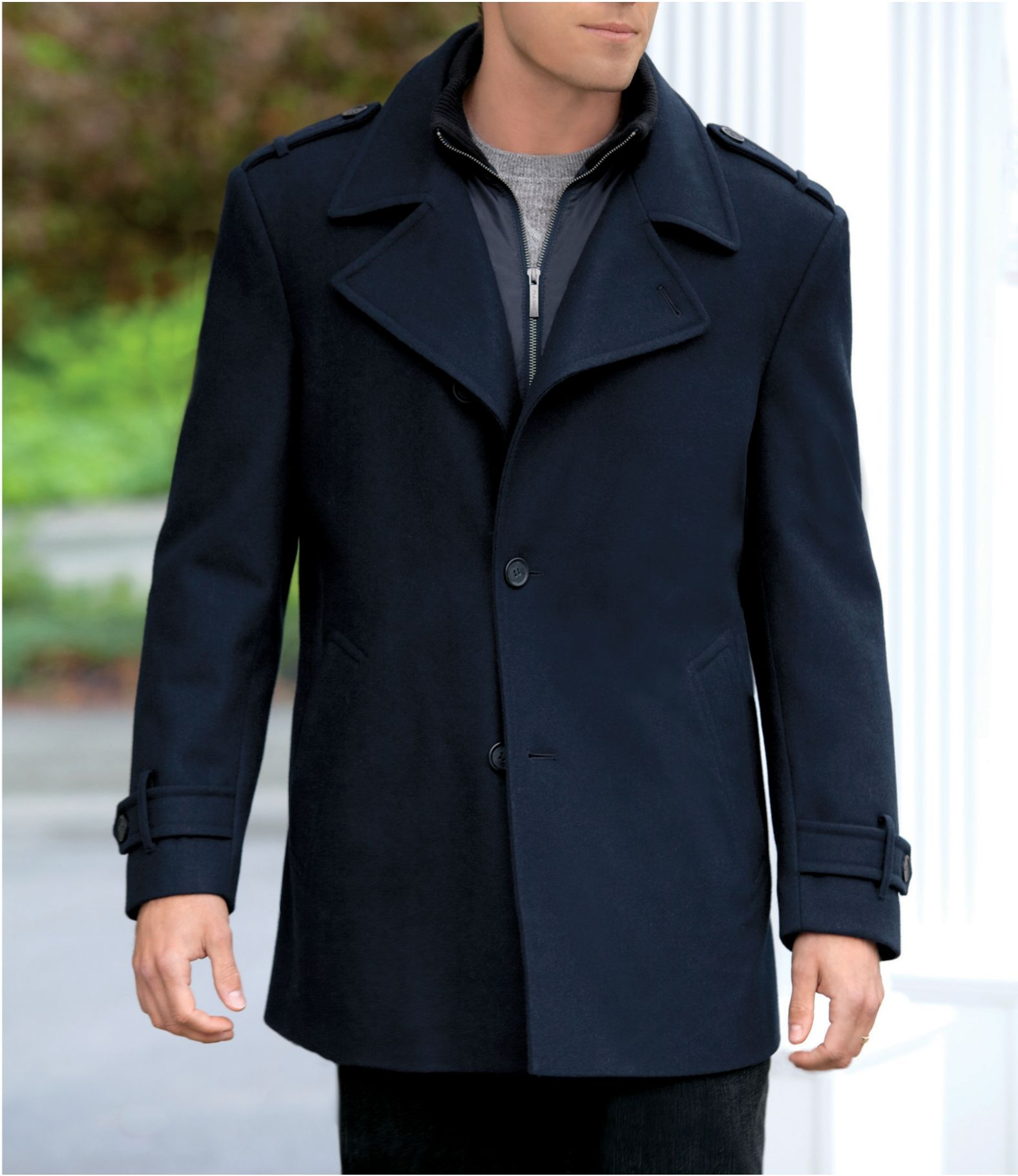 Jos. A. Bank Traditional Fit Wool Peacoat CLEARANCE - All ...