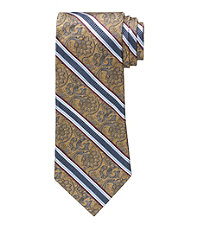Signature Gold Tapestry with Stripe Tie