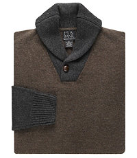 Lambswool Shawl Collar Sweater