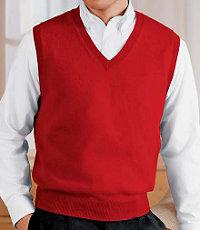 Cashmere Vest Sweater Big/Tall