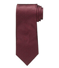 Burgundy Houndstooth Formal Tie