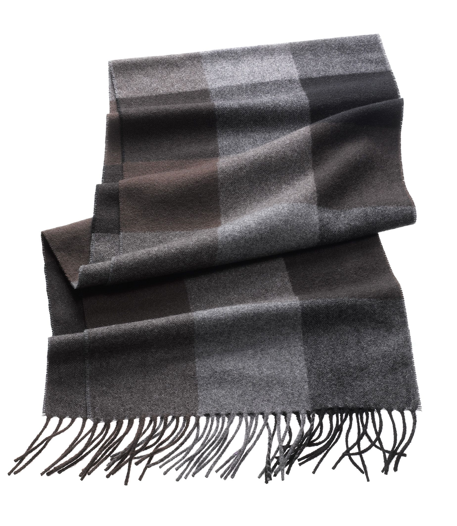 Cashmere Scarf- Block Patterned
