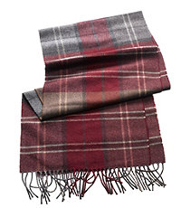 Cashmere Scarf- Plaid Patterned
