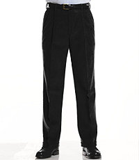 Colorfast Casual Corduroy Pleated Front Pants Tall Sizes