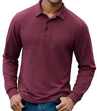 Traveler Long-Sleeve Tailored Fit Interlock Polo