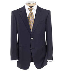 Signature Gold 2-Button Wool Navy Blazer Regal Fit