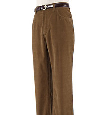 Executive Corduroy Plain Front Pants