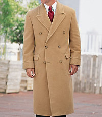 Double-Breasted Camel Hair Topcoat