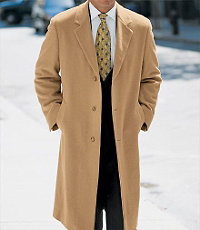 Camel Hair Full Length Topcoat