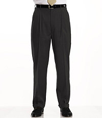 Traveler Washable Wool Solid Pleated Pants- Sizes 44-48