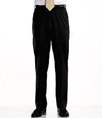 Traveler Washable Wool Solid Plain Front Pants- Sizes 44-48