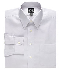 Traveler Point Collar Pale Microcheck Dress Shirt