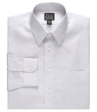 Traveler Tailored Fit Point Collar Pale Microcheck Dress Shirt
