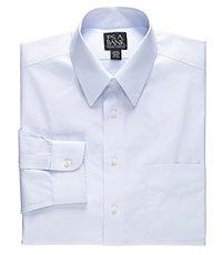 Traveler Point Collar Pale Microcheck Dress Shirt Big/Tall