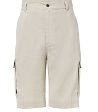 VIP Washed Linen Cargo Plain Front Shorts Big/Tall