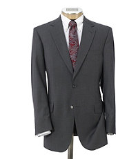 NEW! Signature Tropical Weave 2-Button Center Vent Suit With Pleated Trousers
