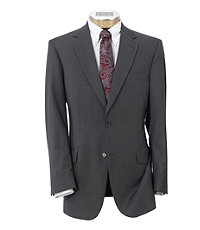 NEW! Signature Tropical Weave 2-Button Tailored Fit Suit with Plain Trousers