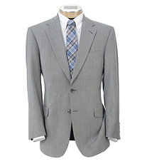 Signature Tropical Weave 2-Button Tailored Fit Suit with Plain Trousers - Cambridge Grey