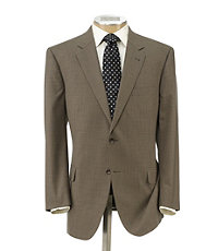Executive 2-Button Wool Suit with Plain Front Trousers - Sizes 44 X-Long-52