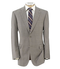 Signature Gold 2-Button Wool Suit- Tan Plaid