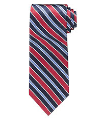 Signature Satin Repp Multi Stripe Tie