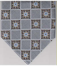 Satin Square Medallion Tie