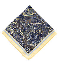 Tapestry Pocket Square- Yellow