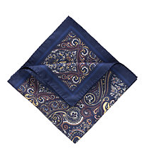 Tapestry Pocket Square- Blue