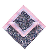 Tapestry Pocket Square- Pink