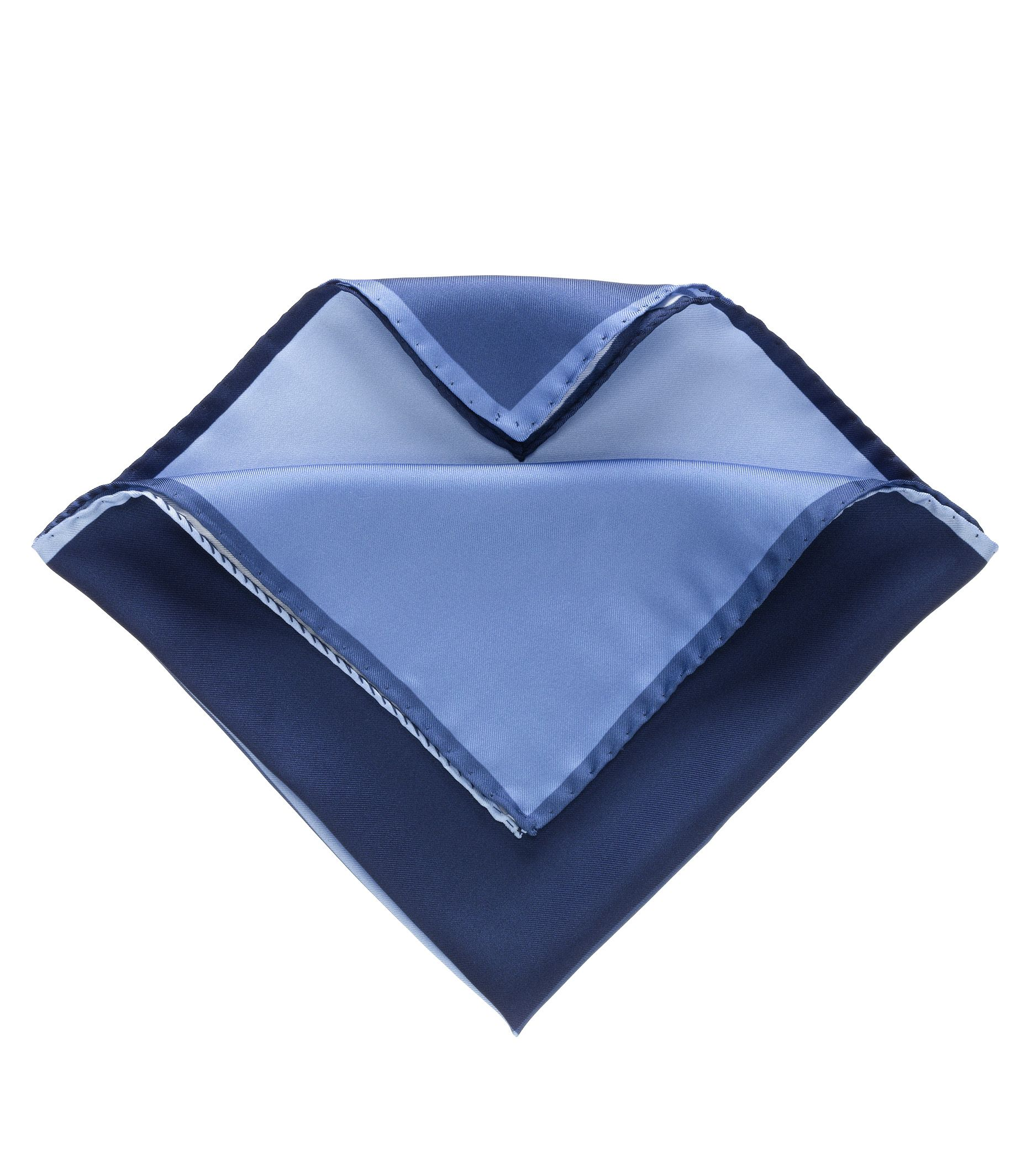 Four Color Solid Pocket Square- Navy