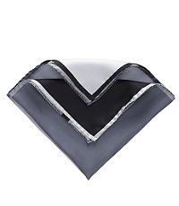 Four Color Solid Pocket Square- Black