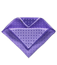 Four Color Dot Solid Pocket Square- Purple