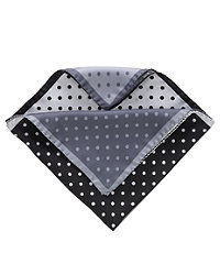 Four Color Dot Solid Pocket Square- Black