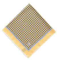 Tear Drop Paisley Pocket Square- Yellow