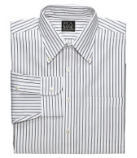 Pinpoint Oxford Buttondown Collar Striped Dress Shirt