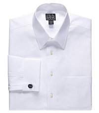 Factory Store Non-Iron Point Collar, French Cuff Dress Shirt
