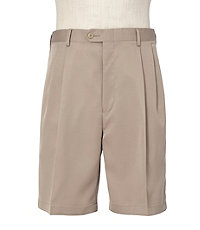 David Leadbetter's Pleated Front Performance Golf Shorts Ext Sizes