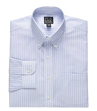 Traveler Tailored Fit Buttondown Collar Stripe Dress Shirt