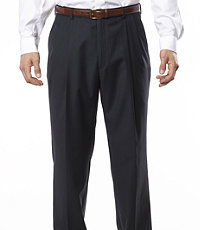 Signature Pleated Front Tailored Fit Trousers