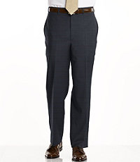 Signature Tropical Weave Tailored Fit Plain Front Trouser